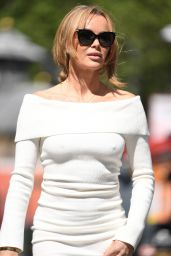 Amanda Holden in a White Tight Dress 05/19/2021