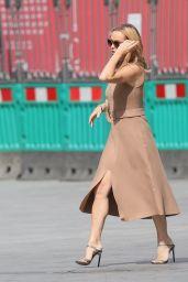 Amanda Holden in Tight Nude Skin Coloured Dress 05/18/2021