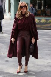 Amanda Holden Wears Burgundy Top and Trousers 05/06/2021