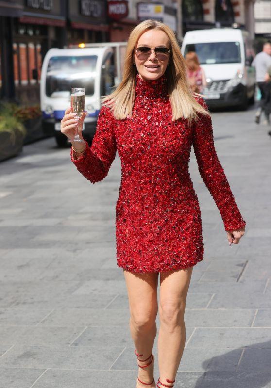 Amanda Holden Wears Sparking Diamond Dress - London 05/28/2021