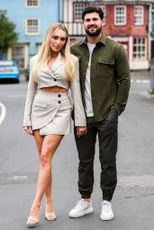 """Amber Turner - """"The Only Way is Essex"""" TV Show Filming in Cromer, Norfolk 05/01/2021"""