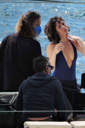 Ana De Armas - Shooting a Commercial for the Natural Diamond Council in Palma De Mallorca 05/13/2021
