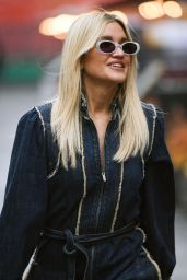 Ashley Roberts in a Denim Jumpsuit - Out in London 05/24/2021