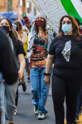 Bella Hadid - Palestinian Rally in NYC 05/15/2021