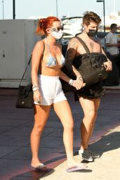 Bella Thorne in Bikini Top - Miami 05/05/2021