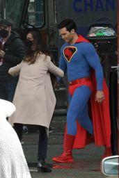 "Bitsie Tulloch - Filming ""Superman"" in Vancouver 05/04/2021"