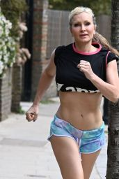 Caprice in a Cropped Top and Mini Shorts - London 05/18/2021