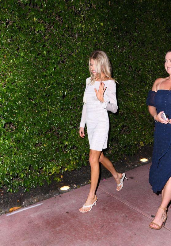 Charlotte McKinney in a Slinky White Dress - Miami Beach 05/14/2021