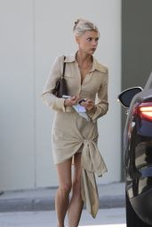 Charlotte McKinney in Aya Muse Shirt-Dress in LA 05/04/2021