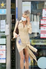 Charlotte McKinney in Aya Muse Shirt-Dress in LA 05/04/2021