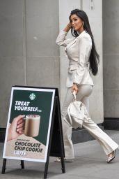 Chloe Khan at Starbucks in Westminster, London 04/30/2021