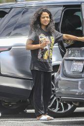 Christina Milian Makeup Fee at Mercedes Dealership in LA 05/15/2021