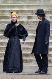 """Claire Danes and Frank Dillane - """"The Essex Serpent"""" Set in London 05/10/2021"""