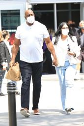 Cookie Johnson - Leaving the Lakers vs Suns Basketball Game in LA 05/30/2021