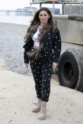 """Courtney Green - """"The Only Way is Essex TV Show"""" filming in Cromer, Norfolk 05/01/2021"""