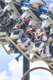 Courtney Stodden at Six Flags Magic Mountain Santa Clarita 05/20/2021