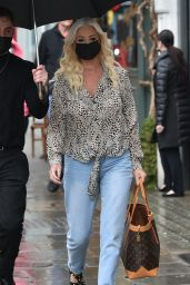 Denise Van Outen - Leaving Paul Edmonds Hair Salon in Knightsbridge 05/28/2021