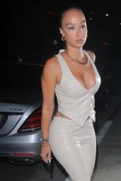Draya Michele in an All White Ensemble - Hollywood 05/19/2021