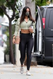 Eiza Gonzalez in Black and Short Olive Jacket - Zinque Cafe in West Hollywood 05/13/2021