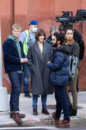 "Elizabeth Henstridge and Georgina Campbell - ""Suspicion"" Set in New York 05/04/2021"