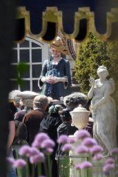 """Elle Fanning - """"The Great"""" Set in London 05/21/2021"""