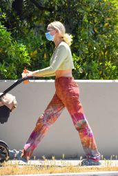 Elsa Hosk in a Crop Top in LA 05/04/2021