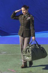 "Elsa Pataky in a Military Uniform - ""Interceptor"" Set in Sydney 05/13/2021"