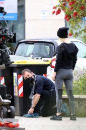 "Emilia Fox - ""Signora Volpe"" Set in Rome 05/19/2021"