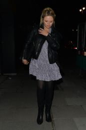 Emily Atack Night Out Style - London 05/14/2021