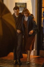 """Emma Corrin and Harry Styles - """"My Policeman"""" Filming Set in Brighton 05/03/2021"""