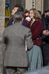 "Emma Corrin and Harry Styles - ""My Policeman"" Set in Brighton 05/09/2021"