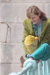 "Emma Corrin - ""My Policeman"" Filming Set in Brighton 05/13/2021"