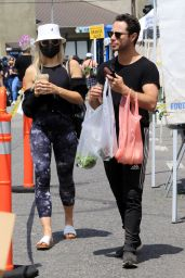 Emma Slater - Shopping at the Farmers Market in Los Angeles 05/02/2021