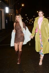 Francesca Allen and Joanna Chimonides Night Out - MNKY HSE Restaurant in London 05/17/2021