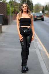 """Frankie Sims - """"The Only Way is Essex"""" TV Show Filming 04/29/2021"""