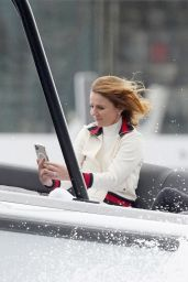Geri Halliwell on a Boat During Monaco Grand Prix 05/22/2021