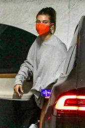 Hailey Rhode Bieber in Workout Shorts in Los Angeles 05/20/2021
