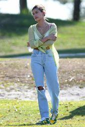 Hailey Rhode Bieber Wears a Sheer Top - Miami 05/02/2021