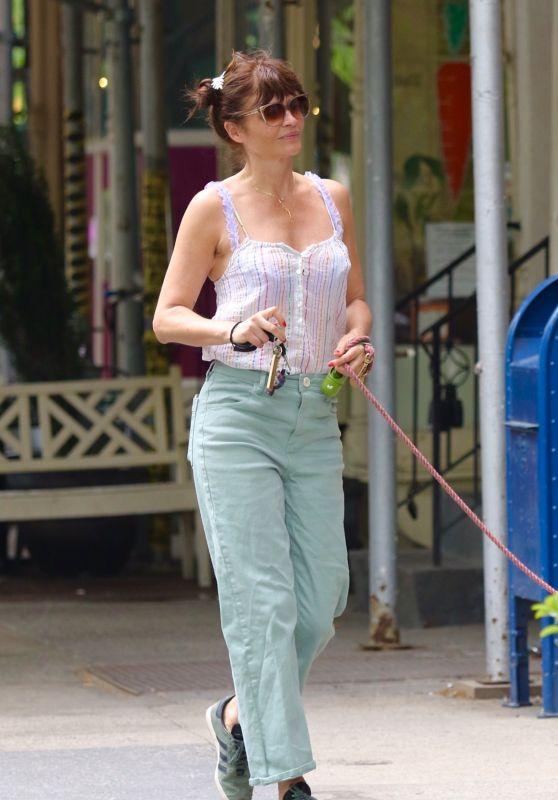 Helena Christensen Chic Street Style - NYC 05/16/2021