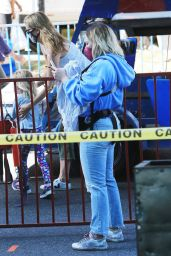 Hilary Duff in Casual Outfit - Farmers Market in Studio City 05/23/2021