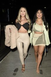 Holly Hagan and Sophie Kasaei - Nigth Out at Menagerie in Manchester 05/21/2021