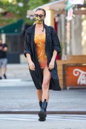 Irina Shayk is Showcasing Her Model Legs - New York City 05/19/2021