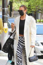 Irina Shayk Wears Zebra-Print Pants - New York 05/11/2021