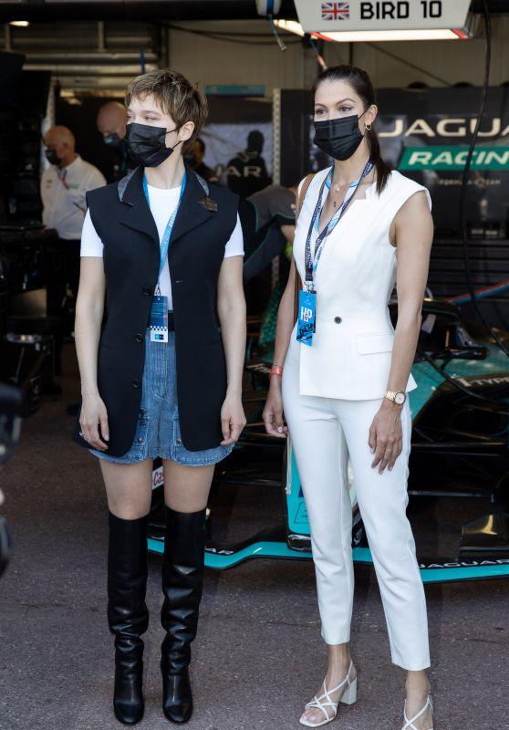 Iris Mittenaere and Léa Seydoux - Monaco E-Prix 2021 05/08/2021