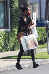 Jasmine Tookes in Workout Clothes - Shopping in Beverly Hills 05/26/2021