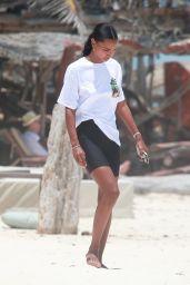 Jasmine Tookes on the Beach in Tulum 05/05/2021