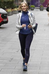 Jenni Falconer - Leaving Global Radio in Leicester Square in Central London 05/11/2021