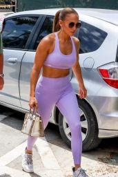 Jennifer Lopez in Purple Sports Bra and Leggings (more photos) 05/27/2021