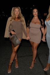 Jess Gale and Eve Gale - Night Out in London 05/10/2021