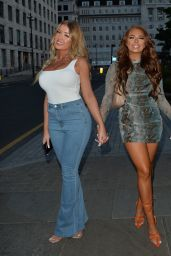 Jess Gale, Eve Gale and Demi Jones - Night Out in London 05/27/2021